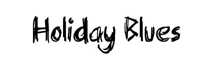 Holiday Blues  Frei Schriftart Herunterladen