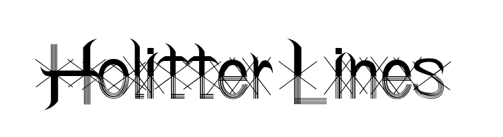 Holitter Lines  Free Fonts Download