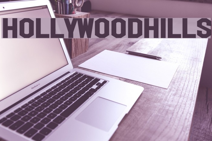 HollywoodHills Font examples