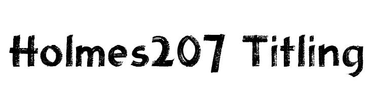 Holmes207 Titling  les polices de caractères gratuit télécharger