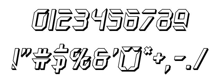 Holo-Jacket 3D Italic Шрифта ДРУГИЕ символов