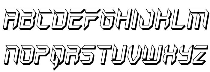 Holo-Jacket 3D Italic Шрифта ВЕРХНИЙ