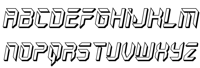 Holo-Jacket 3D Italic Шрифта строчной