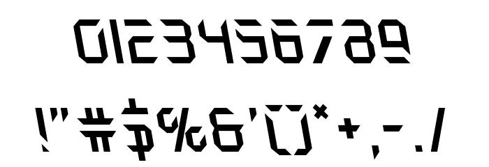 Holo-Jacket Leftalic Шрифта ДРУГИЕ символов