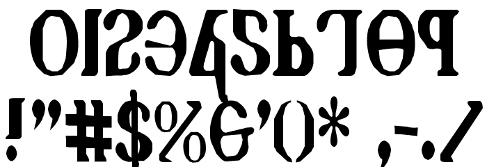 Holy Empire Condensed Font OTHER CHARS