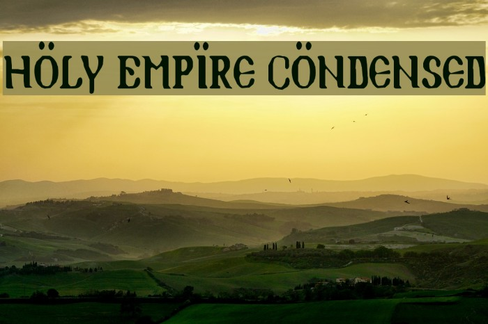 Holy Empire Condensed Font examples