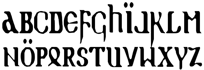 Holy Empire Condensed Font LOWERCASE