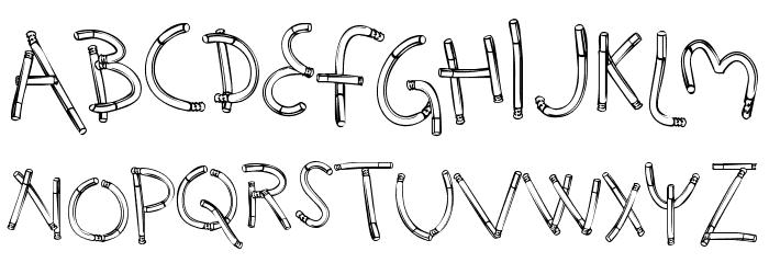HolySmokes-Regular Font LOWERCASE