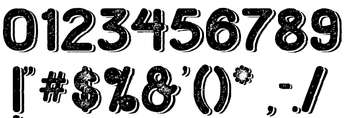 HometownRoughBoldShadow Font OTHER CHARS