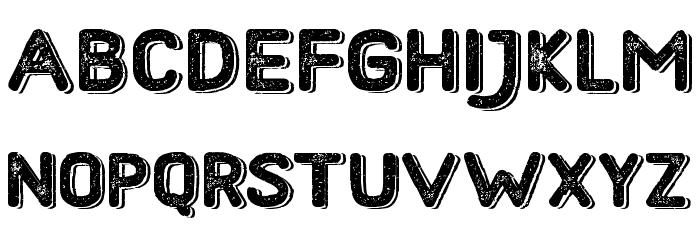 HometownRoughBoldShadow Font UPPERCASE