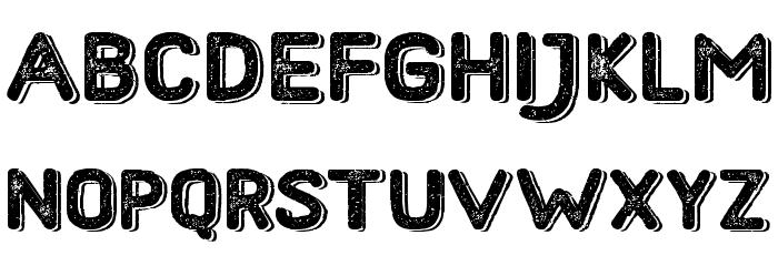 HometownRoughBoldShadow Font LOWERCASE