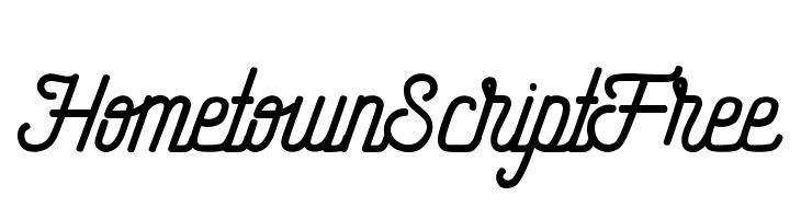 HometownScriptFree  Descarca Fonturi Gratis