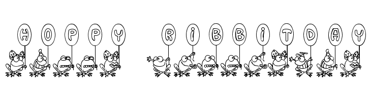 Hoppy Ribbitday  Free Fonts Download
