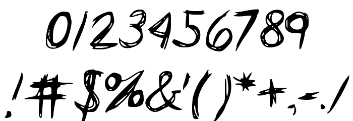 HorrorScribbles Font OTHER CHARS