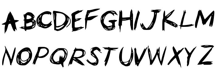 HorrorScribbles Font UPPERCASE