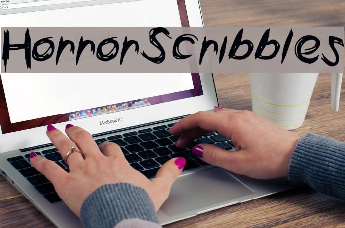 HorrorScribbles Font examples