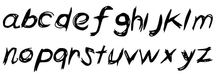 HorrorScribbles Font LOWERCASE