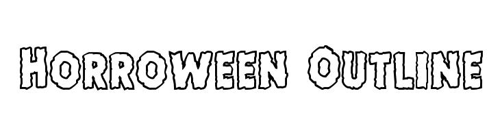 Horroween Outline  नि: शुल्क फ़ॉन्ट्स डाउनलोड