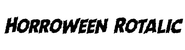 Horroween Rotalic Font