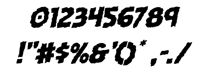 Horroween Rotalic Font Alte caractere