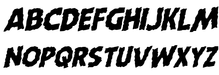 Horroween Rotalic Font Litere mici