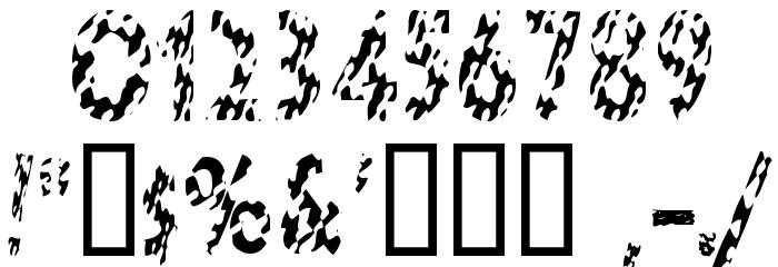 HotButteredGiraffe Font OTHER CHARS
