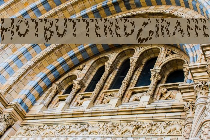 HotButteredGiraffe Font examples