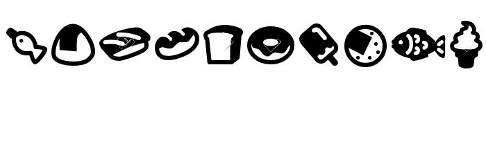 HotDogsNFishDingbats Font LOWERCASE