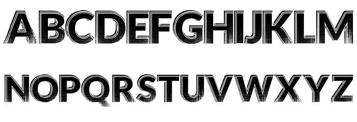 HotTropics Font UPPERCASE