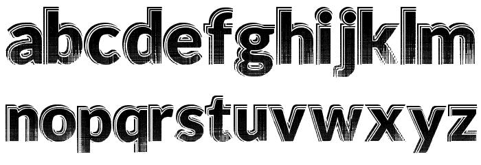 HotTropics Font LOWERCASE