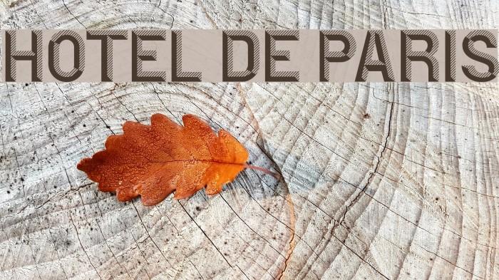 Hotel De Paris फ़ॉन्ट examples