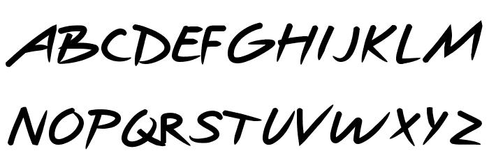 Hotpepper Font UPPERCASE