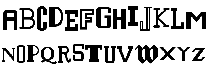 Houraisan Francisco Font UPPERCASE
