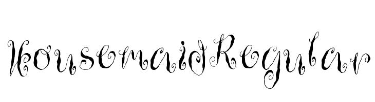 HousemaidRegular  Скачать бесплатные шрифты