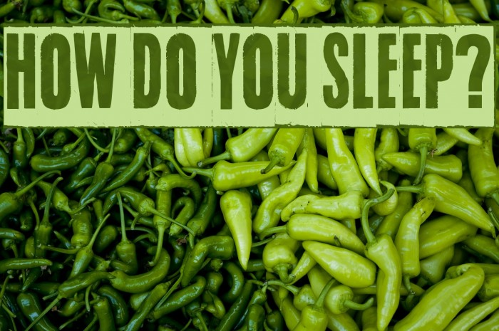 How do you sleep? Font examples