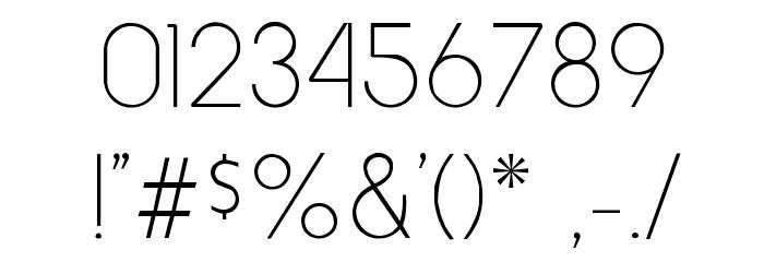 HowardThin Regular Font OTHER CHARS