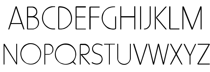 HowardThin Regular Font UPPERCASE