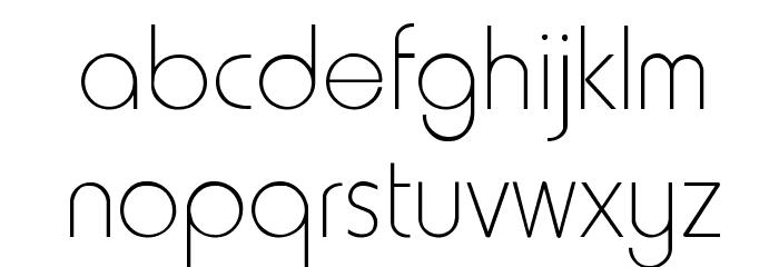 HowardThin Regular Font LOWERCASE
