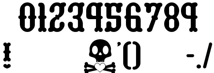 honey bone__G Шрифта ДРУГИЕ символов