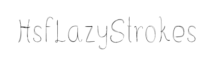 HsfLazyStrokes  font caratteri gratis