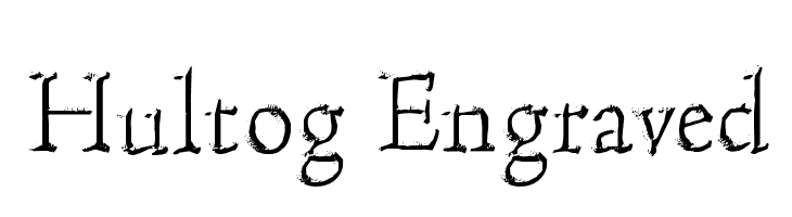 Hultog Engraved  नि: शुल्क फ़ॉन्ट्स डाउनलोड
