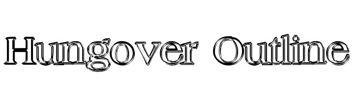 Hungover Outline  baixar fontes gratis