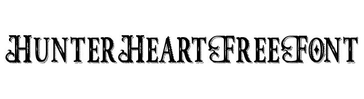 HunterHeartFreeFont  Frei Schriftart Herunterladen