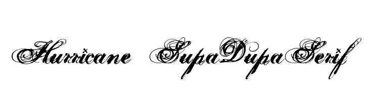 Hurricane  SupaDupaSerif  フリーフォントのダウンロード