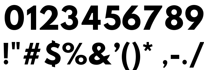 Hussar Bold Web Edition Font OTHER CHARS