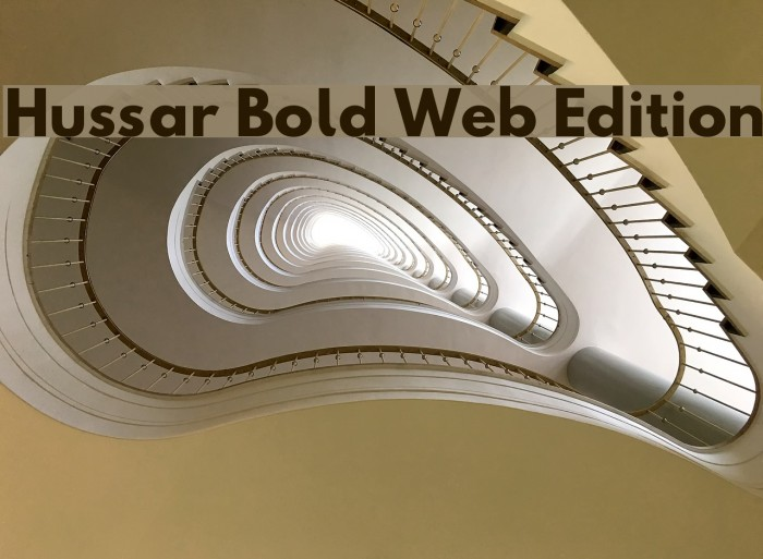 Hussar Bold Web Edition Font examples