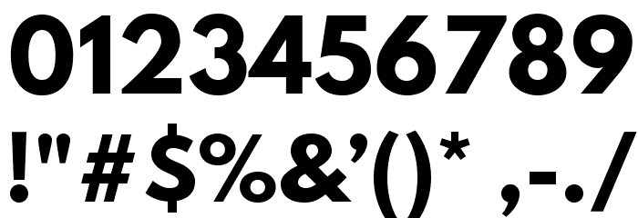 Hussar Bold Font OTHER CHARS