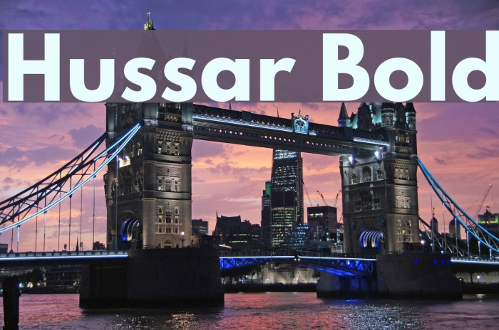 Hussar Bold Font examples