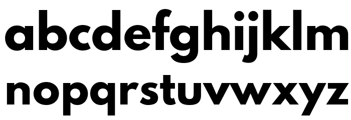 Hussar Bold Font LOWERCASE