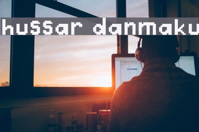 Hussar Danmaku Шрифта examples